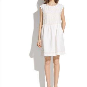 Madewell linen sand wave dress Sz small